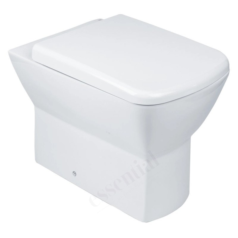 Essential Jasmine Back To Wall Pan & Soft Close Seat Pack