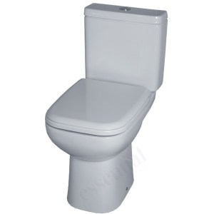 Essential Violet Close Coupled Pan, Cistern & Soft Close Seat