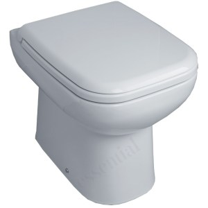 Essential Violet Back To Wall Pan & Seat Only White