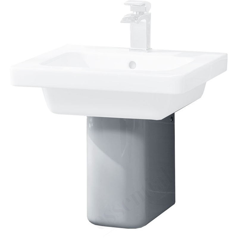 Essential Ivy Semi Pedestal Only White