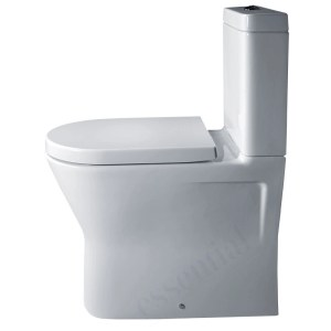 Essential Ivy Comfort Back to Wall Pan, Cistern, Soft Close Seat