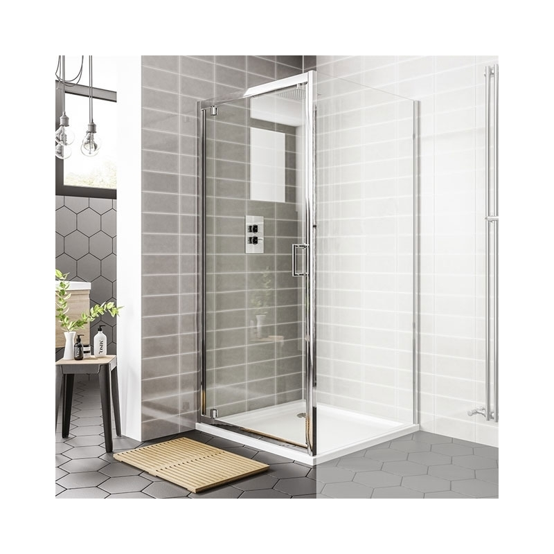 Essential Spring Pivot Shower Door 760mm
