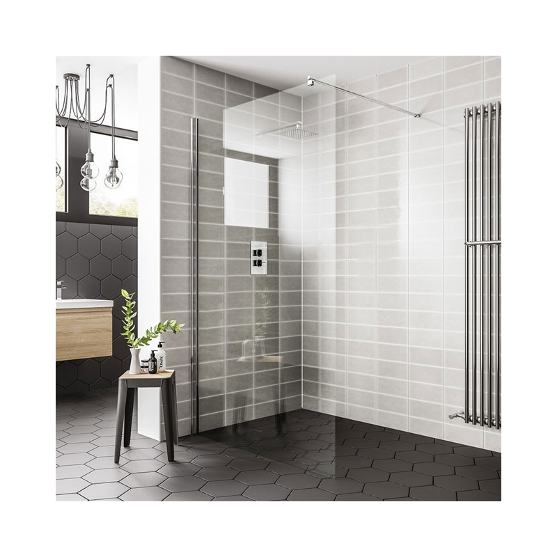 Essential Spring 800mm Wetroom Panel