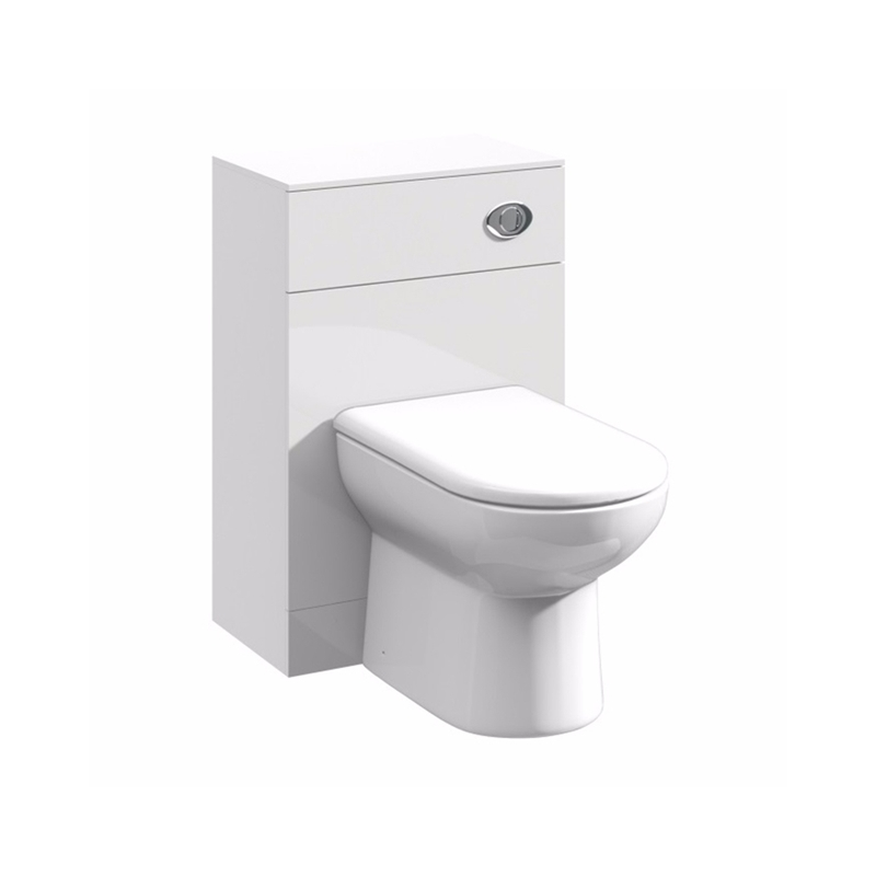 Essential Alaska White Back To Wall Toilet Unit 500mm