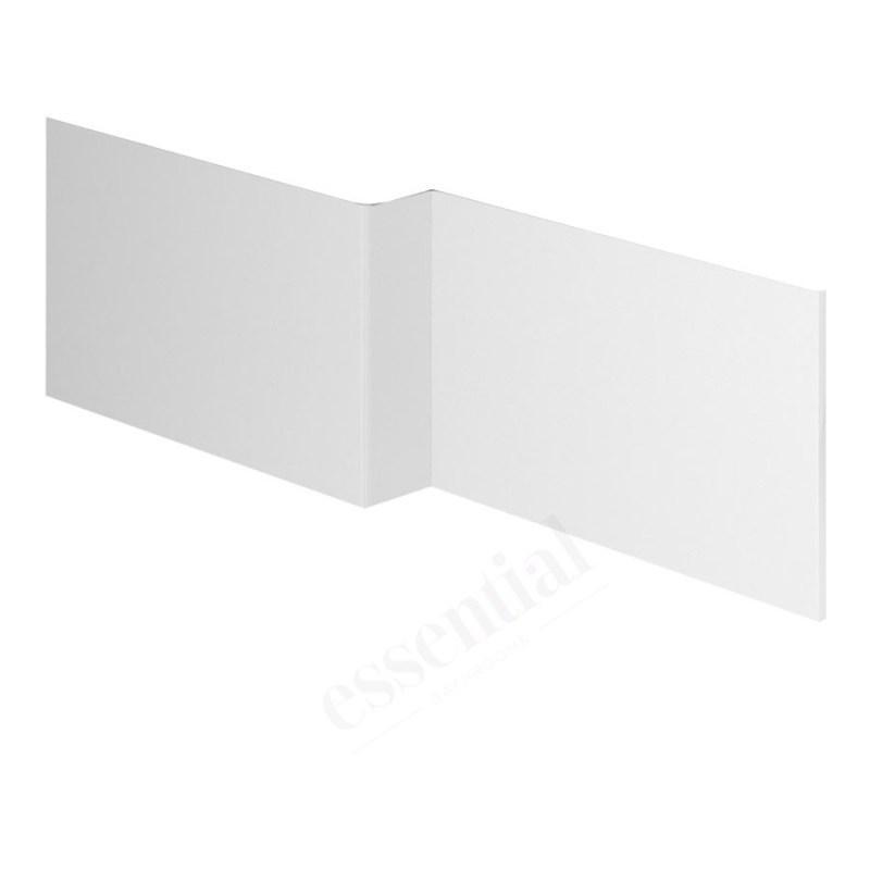 Essential Nevada MDF L Showerbath Front Panel 1700mm White