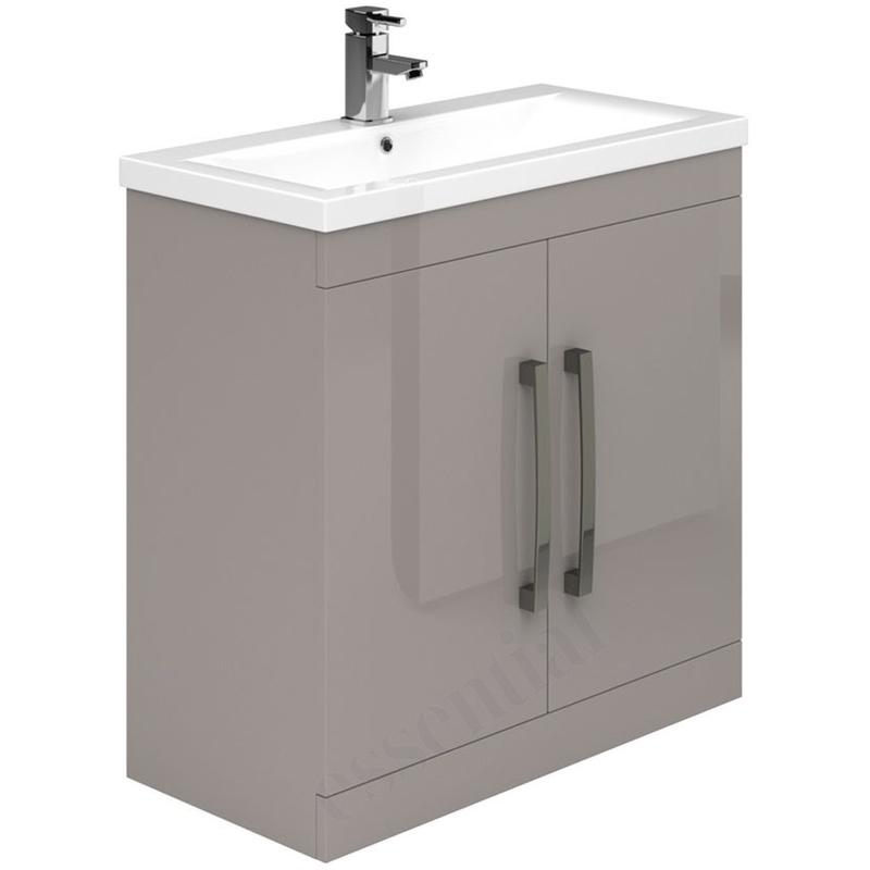 Essential Nevada Washbasin Unit & Basin 2 Door 800mm Cashmere