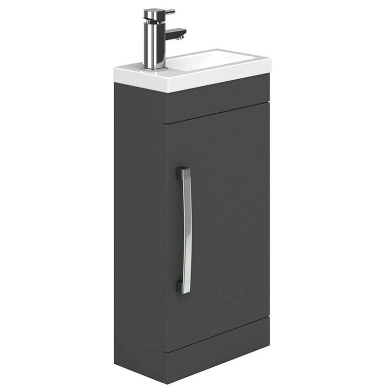 Essential Nevada 400mm 1 Door Cloakroom Unit & Basin Indigo Gloss