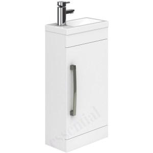 Essential Nevada Washbasin Unit & Basin 1 Door 400mm White
