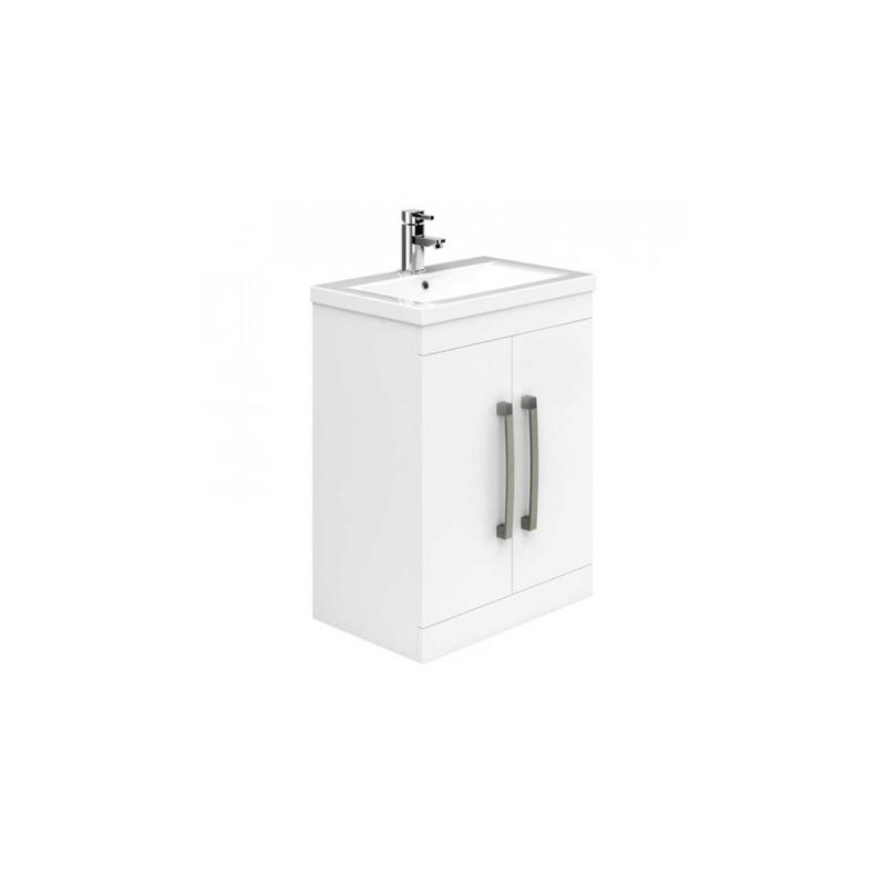 Essential Nevada Floor Unit & Basin 2 Doors 500mm White