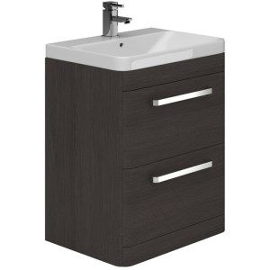 Essential Vermont Unit & Basin 2 Drawer 800mm Dark Grey