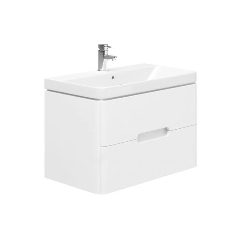 Essential Colorado 800mm Wall Unit & Basin Matt White