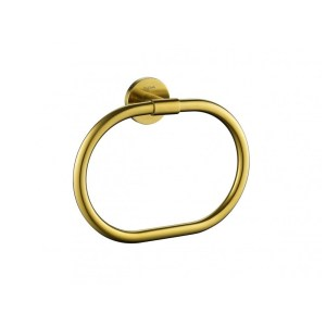 Flova Coco Towel Ring Brushed Brass
