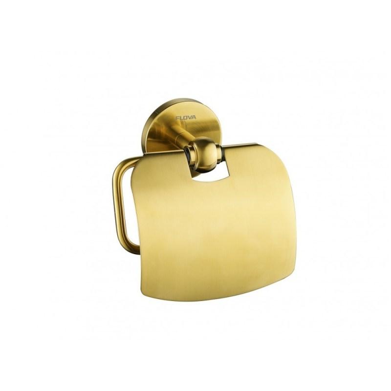 Flova Coco Toilet Roll Holder Brushed Brass