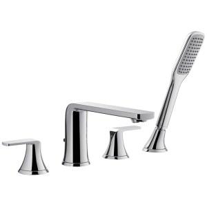 Flova Fusion 4-Hole Deck Mounted Bath Shower Mixer