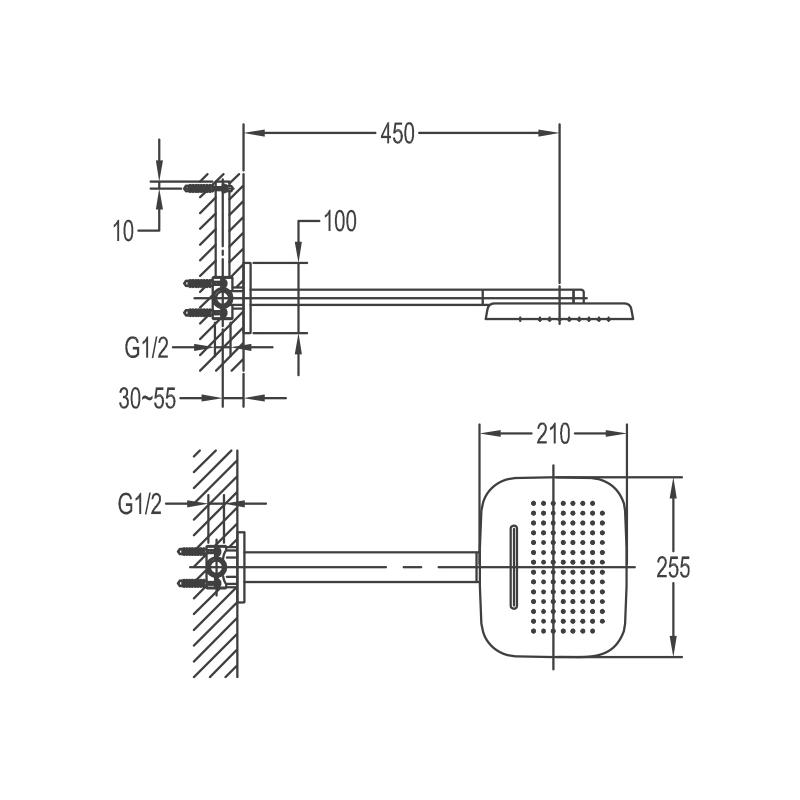 Flova Design 3 Function Rainshower