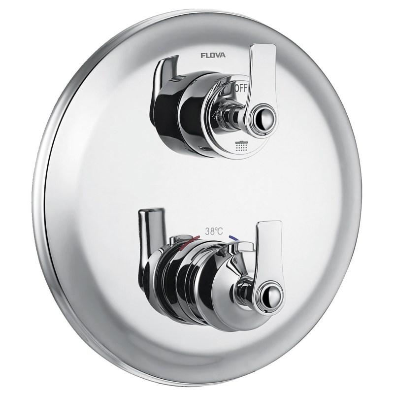Flova Liberty Chrome Slim 3 Outlet Shower Trim Kit Only
