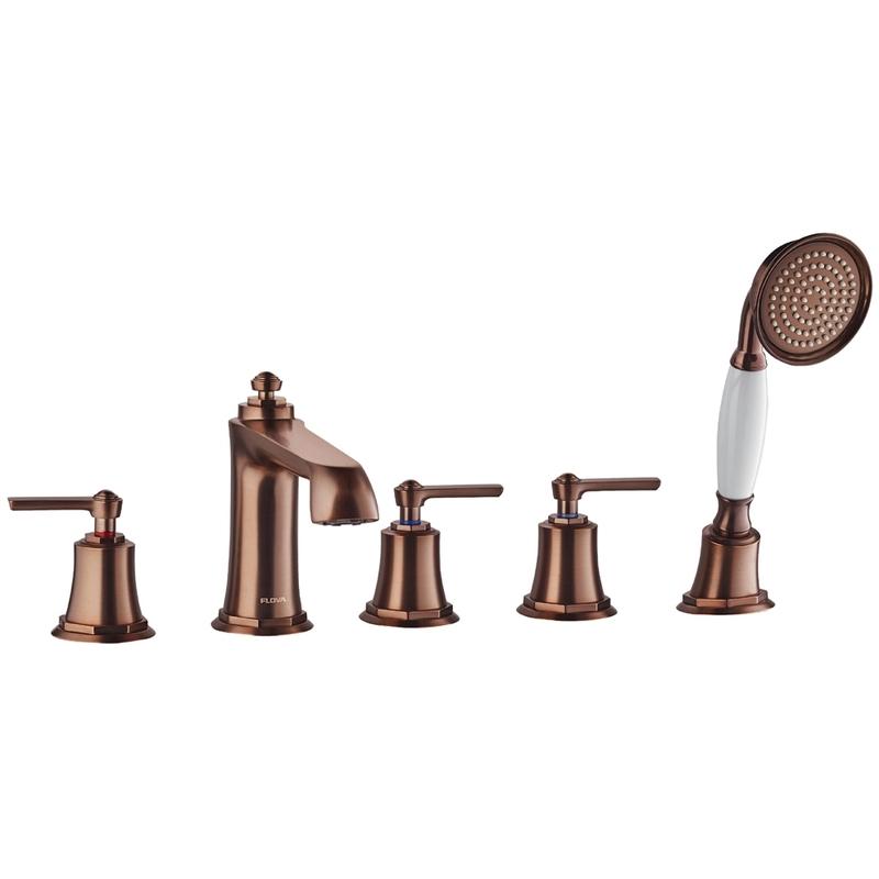 Flova Liberty 5-Hole Deck Mounted Bath Shower Mixer Bronze