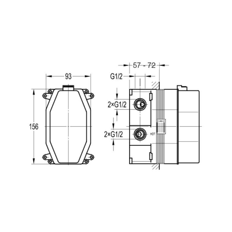 Flova Liberty Chrome Thermostatic SmartBox Shower Valve