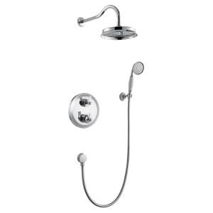 Flova Liberty Chrome Thermostatic 2 Way Shower Pack