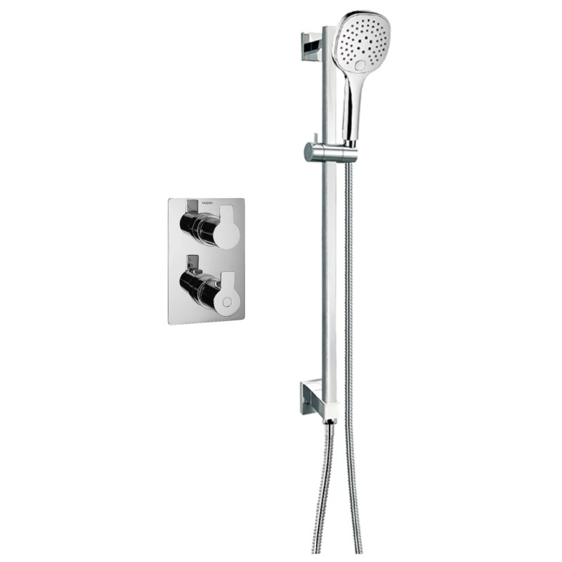 Flova Spring Thermostatic 1 Outlet Shower Valve with Slide Rail Kit