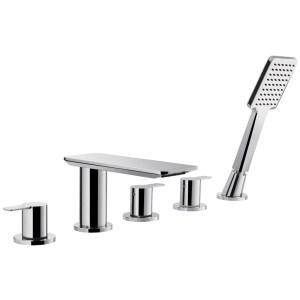 Flova Spring 5-Hole Deck Mounted Bath Shower Mixer