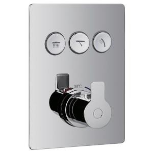 Flova Spring Concealed Thermostatic GoClick 3 Outlet Trim Kit