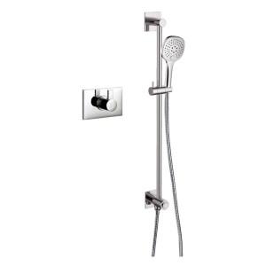 Flova Str8 Thermostatic Shower with GoClick Slide Rail Kit