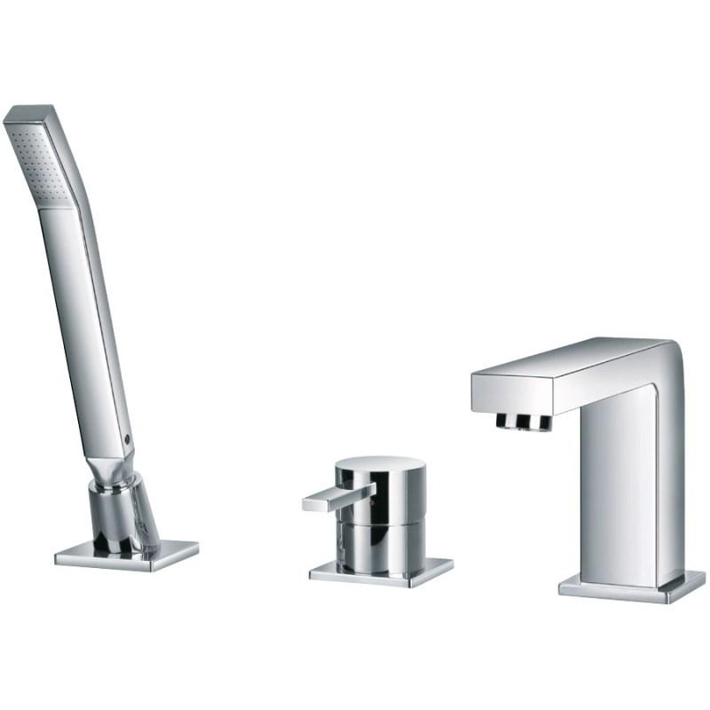 Flova Str8 3-Piece Bath Shower Mixer with Handset & Hose