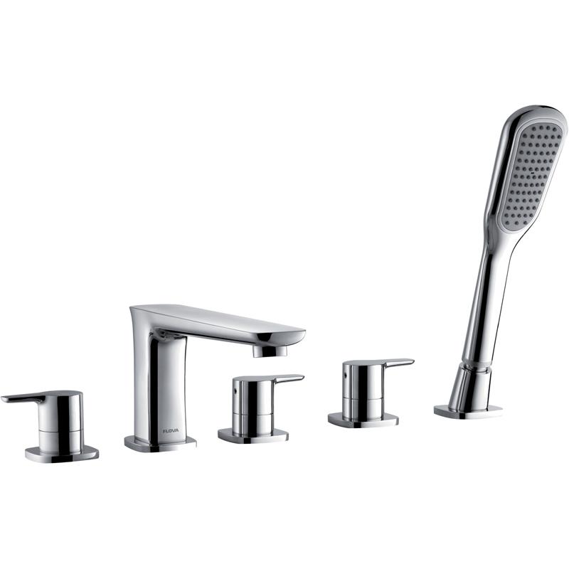 Flova Urban 5-Piece Bath Shower Mixer with Handset & Hose