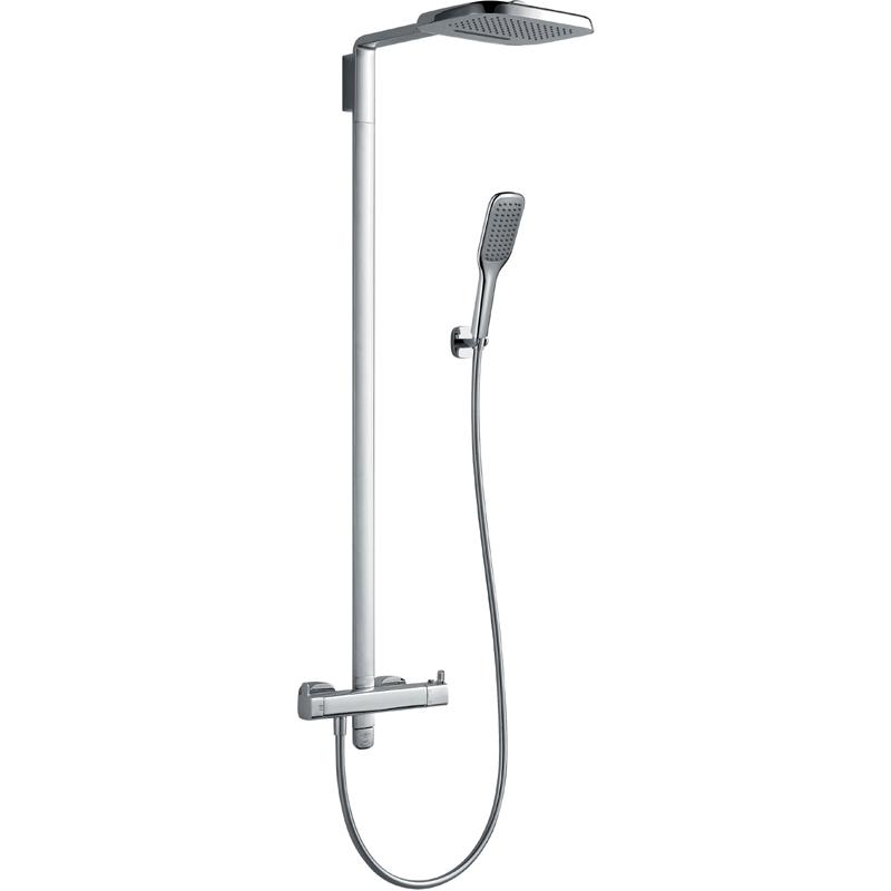 Flova Urban Shower Column with Thermostatic Mixer & Handset