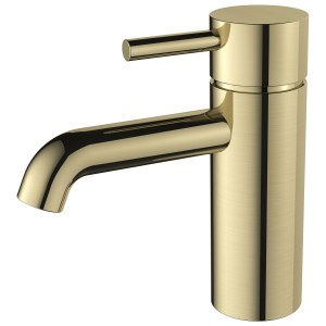 Aquaflow Mineral Basin Mixer Brushed Brass