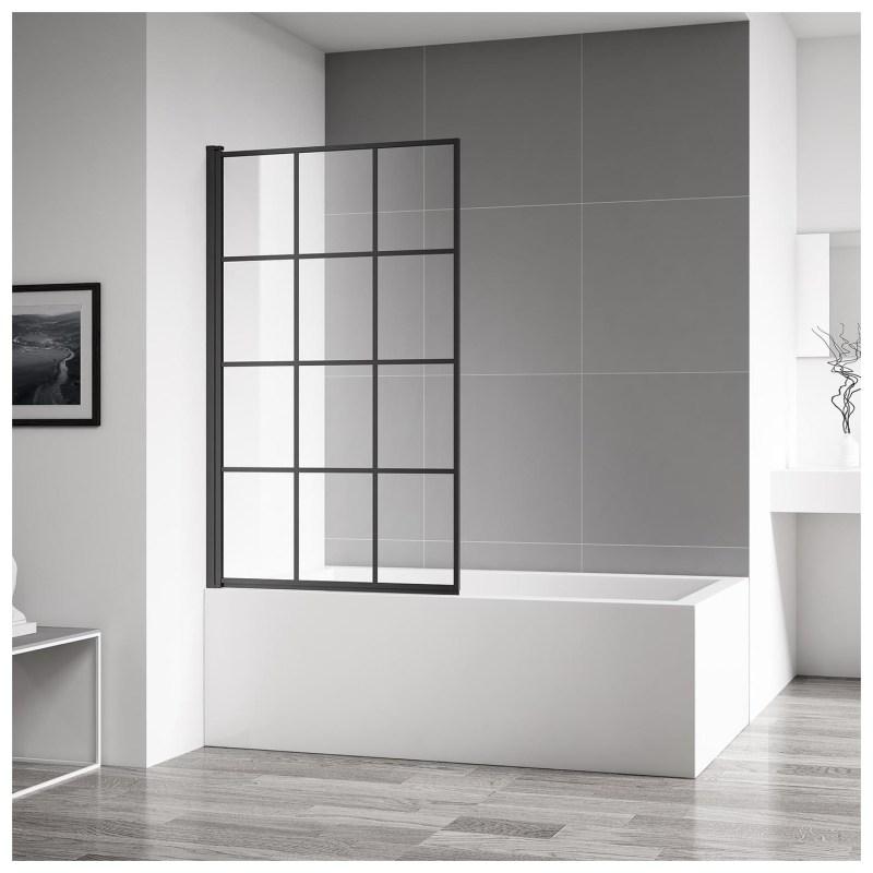 Aquaglass Velar Clear Glass Bath Screen