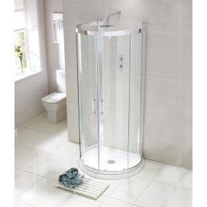Aquaglass Purity 900x770mm D Shaped Quadrant Enclosure