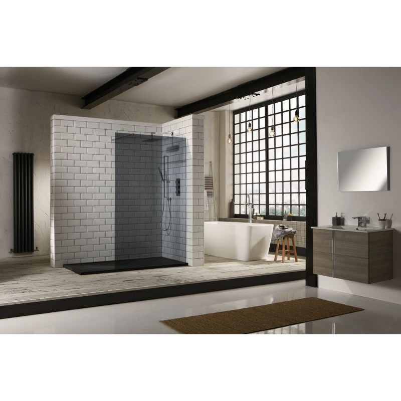 Aquaglass  900mm Walk-In Front Panel Tinted Glass