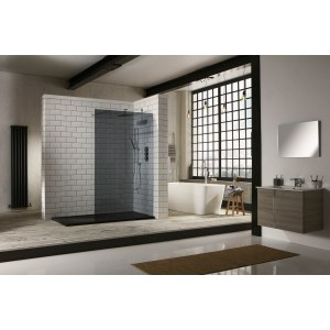 Aquaglass  1000mm Walk-In Front Panel Tinted Glass