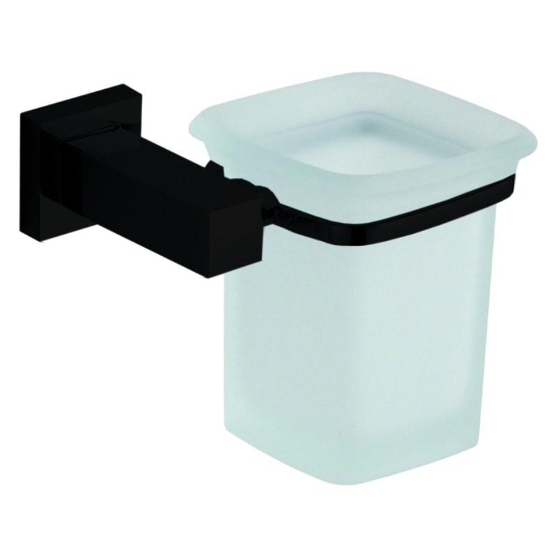 Aquaflow Italia Matt Black Glass Holder
