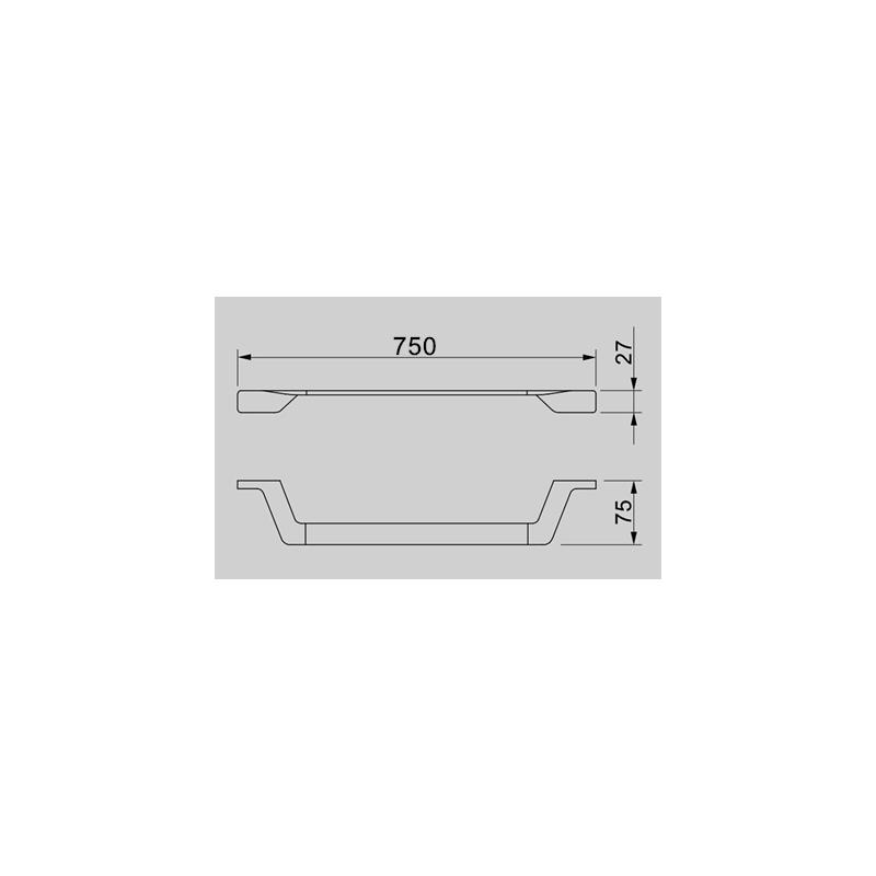 Aquaflow Italia Designer 750mm Towel Rail