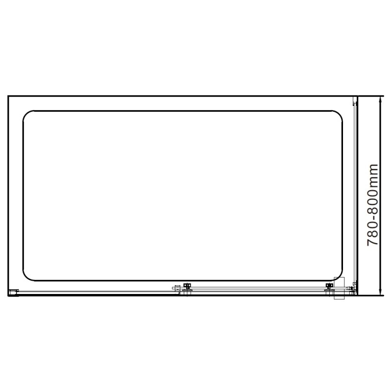 Aquaglass  Linear Slider Side Panel 800mm