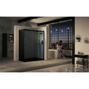 Aquaglass  Sphere 1700mm Sliding Door Smoked Glass