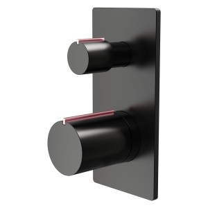 Aquaflow Velar 2 Way Shower Valve Black