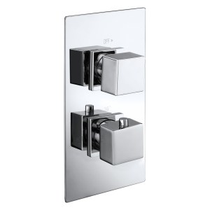 Aquaflow Italia Cube Twin Concealed Shower Valve with Diverter