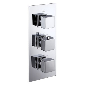 Aquaflow Italia Cube Triple Concealed 2-Way Shower Valve