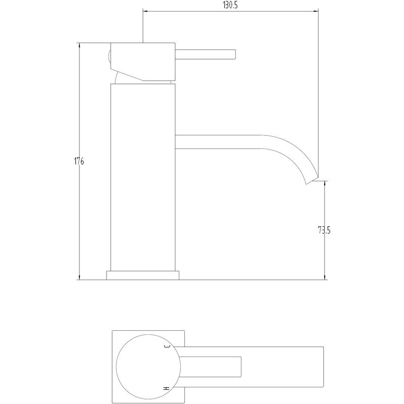 Aquaflow Gemini Mono Basin Mixer with Click Clack Waste