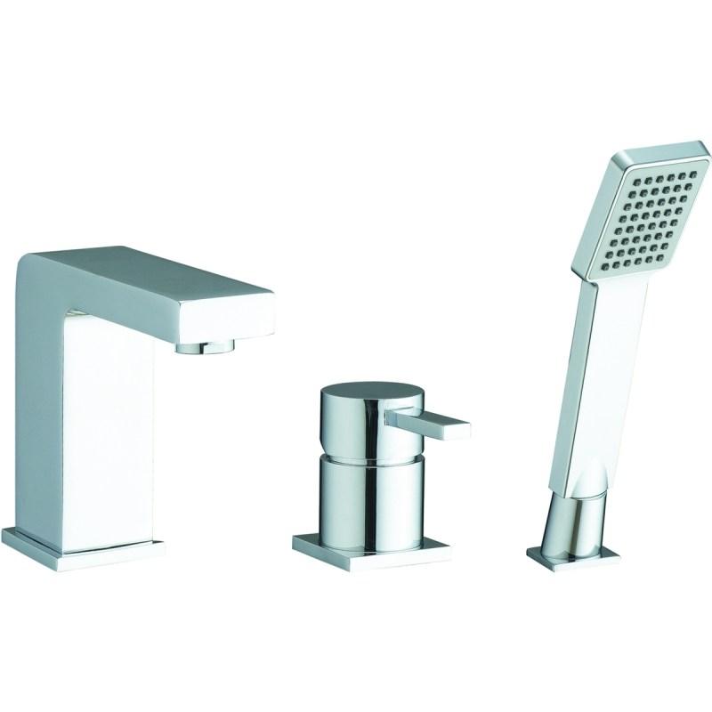 Aquaflow Pano 3 Tap Hole Bath Shower Mixer