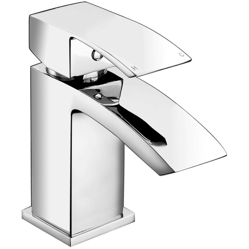 Aquaflow Pure Mono Basin Mixer with Click Clack Waste