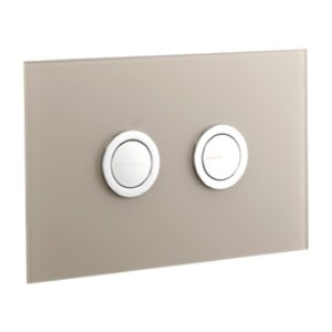 Frontline Glass Flush Plate Taupe