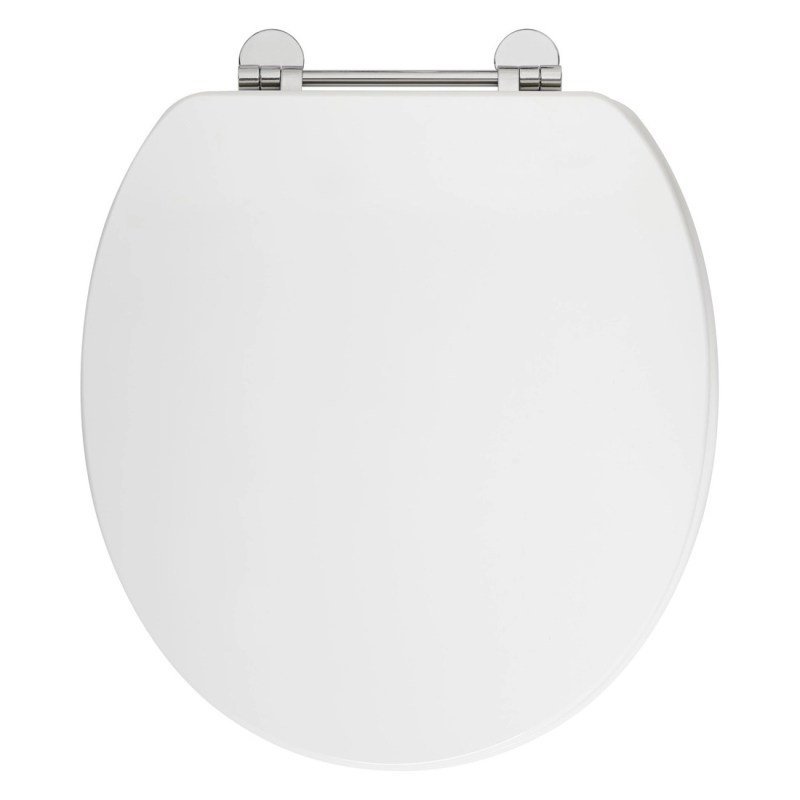Frontline Gloss White Soft Close Wooden Toilet Seat
