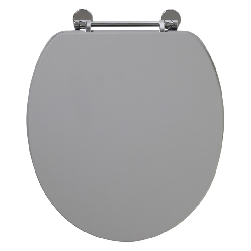 Frontline Dust Grey Soft Close Wooden Toilet Seat