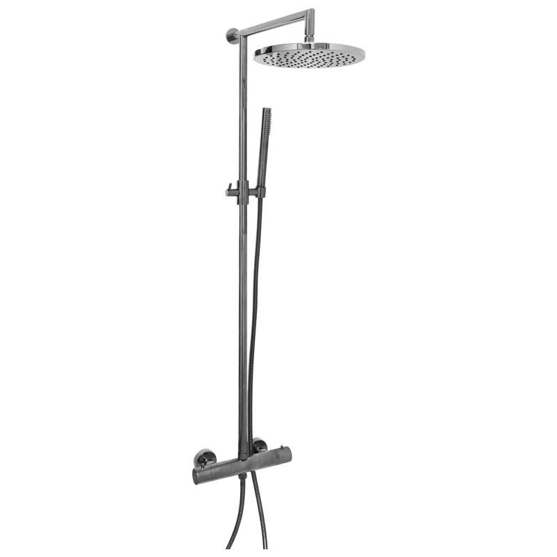 Aquaflow Sleek Shower Column Matt Rhodium