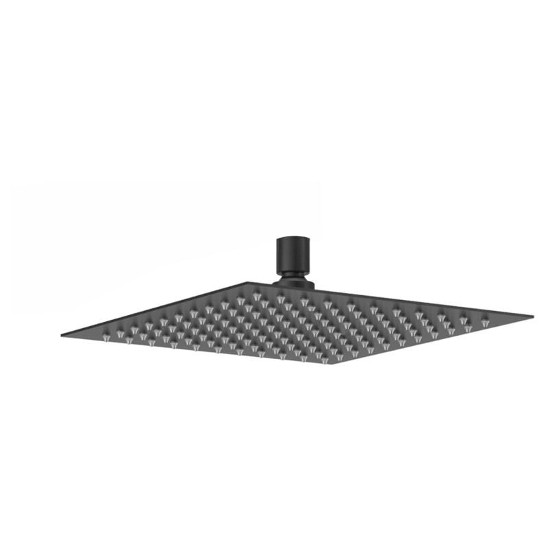 Aquaflow Square Ultra Thin Shower Head 300mm Matt Black